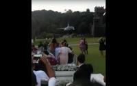 Вертолет с невестой упал на свадьбе в Бразилии (видео)