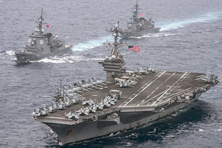 ВМС Японии, Индии иСША провели общее учение вЯпонском море
