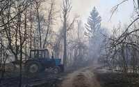 ГСЧС сообщает о тлении торфяников в Чернобыльской зоне