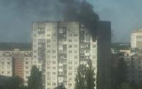 Масштабный пожар в Киеве: из пылающих квартир спасли двух жильцов
