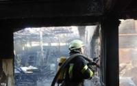 В Киеве случился масштабный пожар