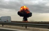 В Испании разбился истребитель F-18 (видео)