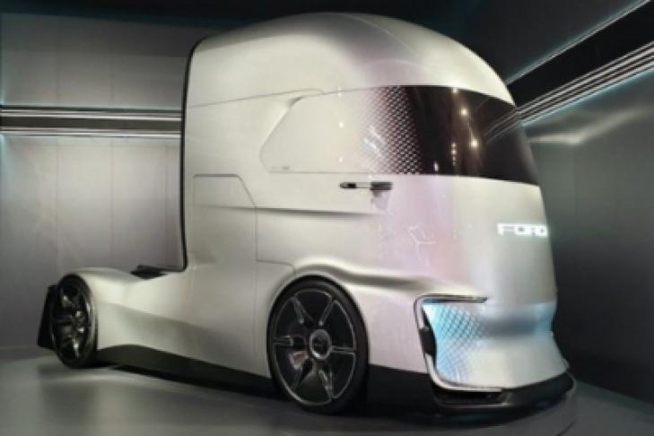 Форд продемонстрировал «убийцу» электрического фургона Tesla Semi— F-Vision