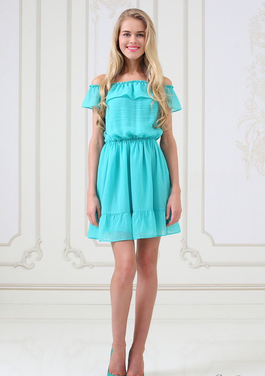Обувь под мятное платье