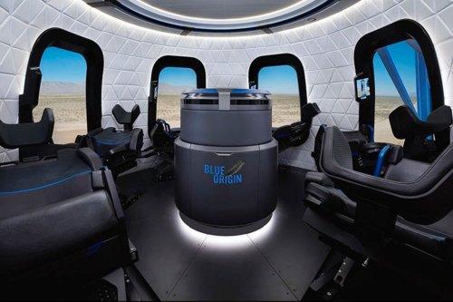 Вид изкапсулы Crew Capsule 2.0 космического корабля New Shepard