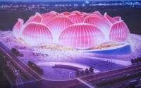 В Китае начали строить самый большой в мире футбольный стадион