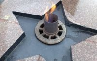 В Донецке Вечный огонь отключают от газа
