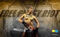 Голым FEMENисткам за уничтожение креста на Майдане «светит» 4 года тюрьмы (ФОТО)