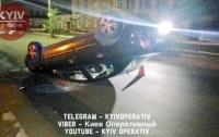 Страшная авария в Киеве: перевернулось авто с пассажирами