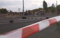 В Черкасcах автогонщик сбил зрителя (видео)