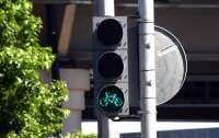 В Киеве установили первые светофоры для велосипедистов