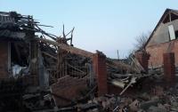 Взрыв полностью разрушил дом в Харьковской области