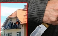 Мужчина устроил метание ножами по прохожим (видео)