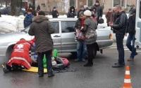 На пешеходном переходе сбили ребенка
