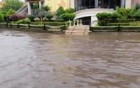 В Черновцах сильнейший ливень превратил десятки улиц в реки (видео)