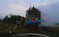 Под Винницей загорелся поезд: машинист спас 25 человек