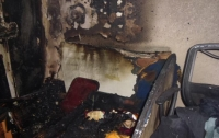 Пожар в Киеве: спасен мужчина