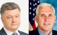 Порошенко обсудил с Пенсом санкции против РФ и миротворцев на Донбасс