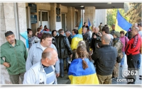В Славянске с фотографиями Небесной Сотни пришли под горисполком