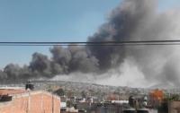 В Мексике взорвался рынок пиротехники (видео)