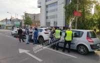 ДТП в Днепре: На светофоре столкнулись четыре автомобиля