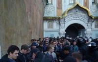 В Киево-Печерской Лавре полиция задержала 100 человек