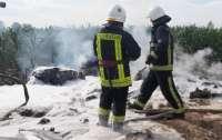 На Киевщине разбился самолет