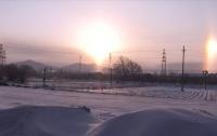 Над Китаем взошли три солнца