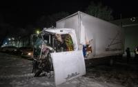 Два грузовика столкнулись под Киевом