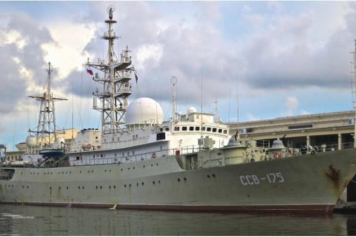 СМИ США: военный корабльРФ занимается разведкой уберегов США