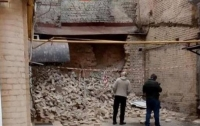 В центре Киева рухнула стена здания