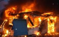 В Запорожье на рынке вспыхнул крупный пожар (видео)