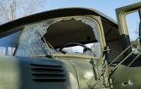 На Донбассе подбили грузовик ракетой