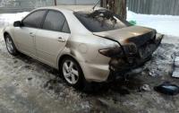 Не исключен поджог: в Харькове горела иномарка