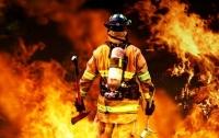 В Киеве горел заброшенный дом