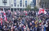 Протесты в Грузии: против мирных демонстрантов применили водометы (видео)