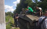 На Хмельнитчине местные жители восстали против украинской военной техники