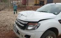 Появилось видео нападения разъяренного бегемота на машину в ЮАР