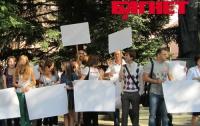 Как в Симферополе журналисты протестовали против закона о клевете (ФОТО)
