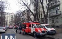 Улицу Богомольца в Киеве перекрыли из-за пожара