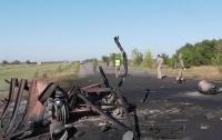 При перемещении военной колонны прогремел взрыв