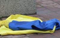 На Буковине вандалы повредили украинские флаги на могилах воинов АТО
