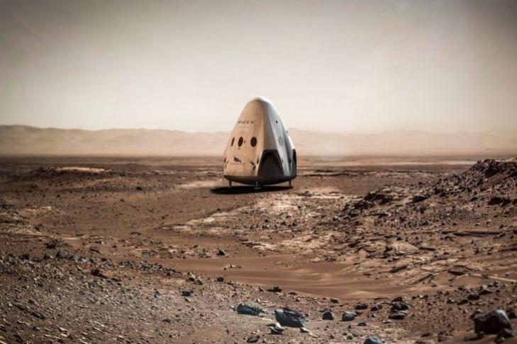 Компания SpaceX назвала 4 региона для посадки корабля наМарсе