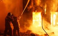 На Буковине горела школа (Видео)
