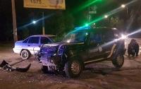 В Запорожской области полиция попала в тройное ДТП