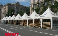 Как монтируют фан-зону к ЕВРО-2012 в Киеве (ФОТО)