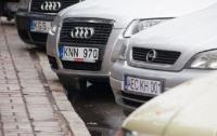 В полиции сообщили, когда и на сколько будут штрафовать евробляхи