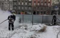 В Киеве на Крещатике произошел пожар