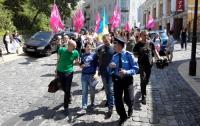 В Киеве активисты перекрыли Андреевский спуск (ФОТО)