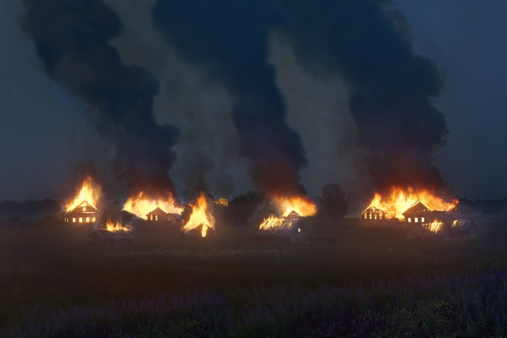 Русского фотографа раскритиковали запроект споджогом сельских домов